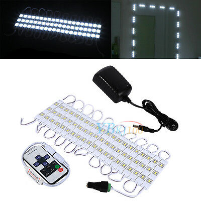 LED White Dressing Mirror Cosmetic Makeup Vanity Lights Dimmer Power For Home