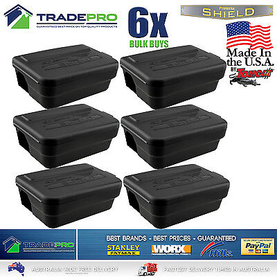 6x Tomcat Made Rat Bait Station Genuine PRO USA Lockable Weather Proof Trap