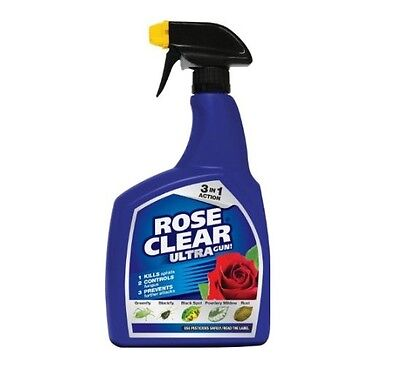 Brand New Rose Clear Ultra Gun 1ltr Systemic Insecticide and Fungicide