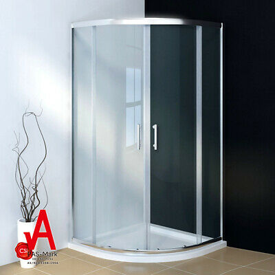 New Round Curved Shower Screen Enclosure Double Sliding Door with Base Optional