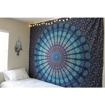 Twin Indian Wall Hanging Hippie Mandala Tapestry Bedspread Bohemian Ethnic New