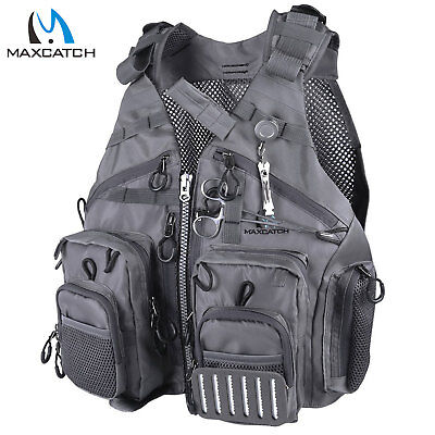Maxcatch Adjustable Mutil-Pocket Fly Fishing Mesh Vest Outdoor Sport Backpack