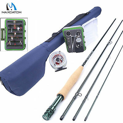 Fly Fishing Combo 9FT 5WT Fly Rod & Fly Reel & Fly Line & Fly Box & Fishing Tool