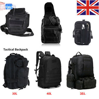 40/30/45/50L Molle Army Assault Tactical Military Rucksack Backpack Camping Bag