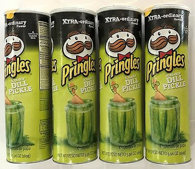 903774 4 x 169g CONTAINERS OF PRINGLES - SCREAMIN' DILL PICKLE FLAVORED - U.S.A.