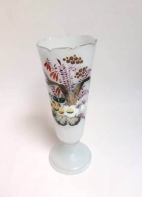 Antique Victorian hand painted glass vase