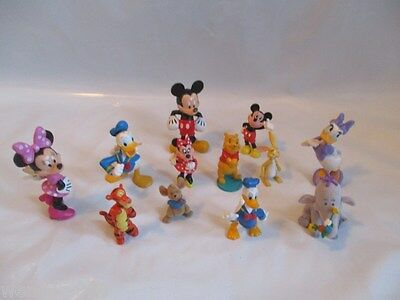 Disney Characters Various Figures Cake Toppers x12 Mickey Mouse Daffy Duck Etc