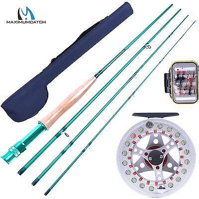 5WT 9FT Fly Rod Combo Fly Reel & Fly Line & Fly Box & Flies Fly Fishing Outfit