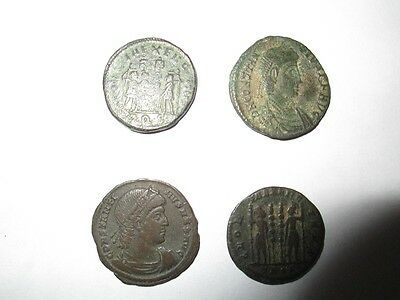 Lot of 4 roman bronze coins - 3rd-4th cent. AD