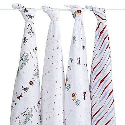 aden + anais Vintage Circus Swaddle 4-Pack
