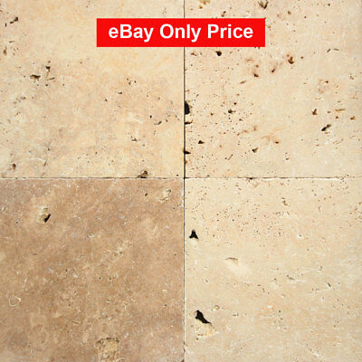 Only $23/m2! Budget Tumbled Travertine Natural Stone Tile 406x406x12mm (#8479)