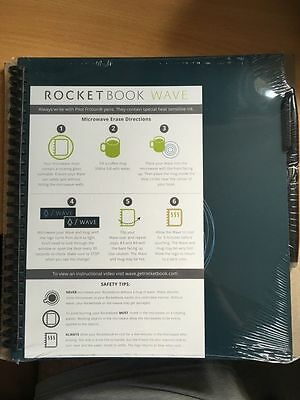 Reusable Notebook - Rocketbook Wave Notebook  (includes free Frixion Pen)