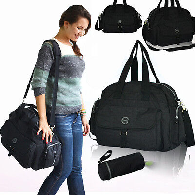 LD 3PCS Tote Shoulder Mummy Baby Diaper Nappy Changing Large Luggage Shopper Bag