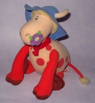 """THE MAGIC ROUNDABOUT 12"""" TALKING ERMINTRUDE The COW Plush Soft Toy w/ Sounds VGC"""