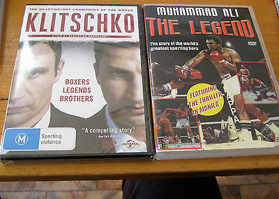 2 Boxing DVD s -New& Sealed Klitschko and as new Muhammad Ali -The Legend
