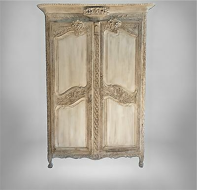 Antique Armoire, French Armoire 18th Century Normandy wardrobe, Linen Cabinet
