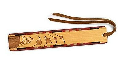 Mitercraft Outer Space - Planets Orbiting Engraved Wooden Bookmark on Cherry