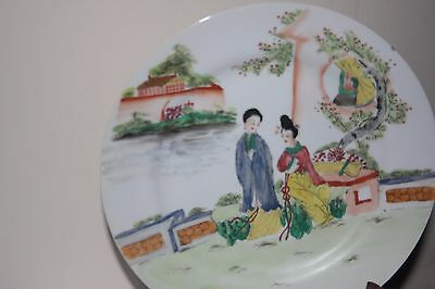 ANTIQUE CHINESE EXPORT 18th /19 CENTURY FAMILLE ROSE PLATE