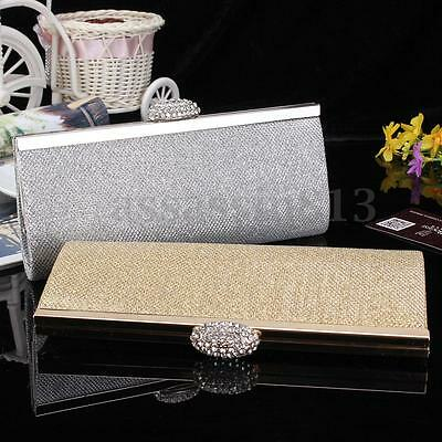 Fashion Women Lady Sparkly Clutch Wallet Evening Bag Bridal Prom Party Handbag