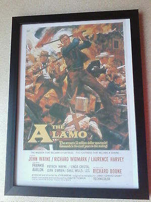 The Alamo (1960) (John Wayne) framed movie poster print