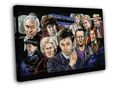 All Doctors David Tennant Art Doctor Who TV Series FRAMED CANVAS WALL PRINT