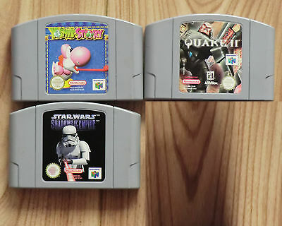 3 Nintendo 64 Pal Game and N64 blaze rumble pack jolt 1MB Bundle