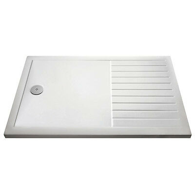 Premier 1700mm x 800mm Walk-In Shower Tray Rectangular Low Profile 40mm