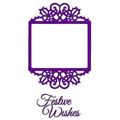 Sweet Dixie Christmas - Festive Wishes Frame Die With Stamp