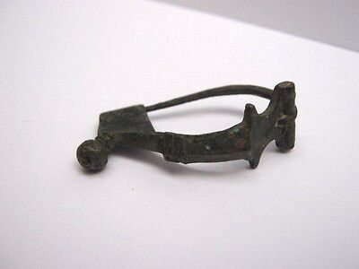 A Superb Bronze Roman Brooch 1St-3Rd Century Ad In Excellent Condition