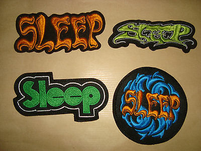 SLEEP - LOGO Embroidered PATCH Dopesmoker High on Fire The Sword Baroness