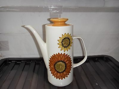 """J and G Meakin """"sunflower"""" coffee pot"""