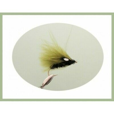 Cormorant Trout Flies, 6 Pack, Full Olive Cormorant, Size 10 Fly Fishing