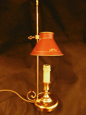 BOUILLOTTE LAMP EMPIRE STYLE - BRONZE - L. GAU, PARIS - FRENCH ANTIQUE - 16 in
