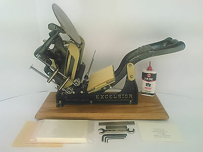 Kelsey Excelsior 3x5 Letterpress Printing Press reconditioned & 100% print ready