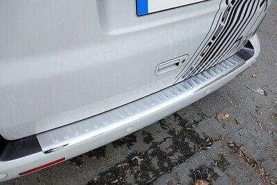 Volvo XC-60 Facelift Rear Bumper Protector Guard Trim Cover Matte Brushed Sill