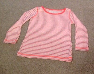 Girls NEXT Orange Stripe Long Sleeve Top.... Age 5 Years.   Perfect For Autumn