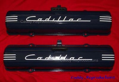 1949 - 1957 Cadillac Valve Cover Decal Pair Set 49 - 57 WHITE