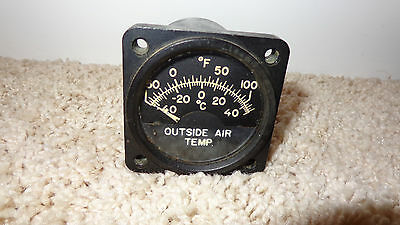 Rare EDISON AVIATION AIRCRAFT INSTRUMENT temp gauge from WWII # 200-2AC / C7