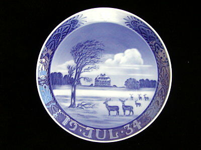 1934 Royal Copenhagen Christmas Plate - Mint
