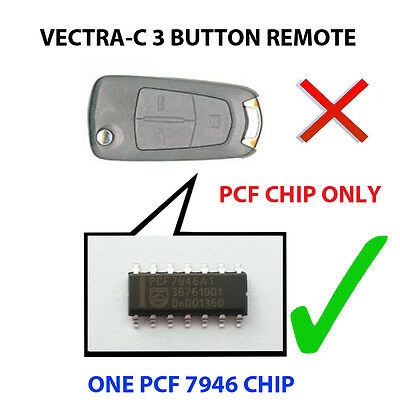 Vauxhall Vectra C Signum 3 Button Pcf Chip7946 Loaded Key Fob Remote Pcf Chip
