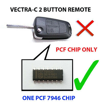 Vauxhall Vectra C Signum 2 Button Pcf Chip7946 Loaded Key Fob Remote Pcf Chip