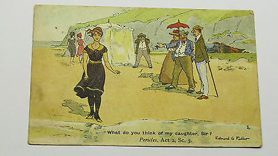 1904 Edwardian Vintage Comic Postcard Edmund G Fuller Bathing Beauty Pericles