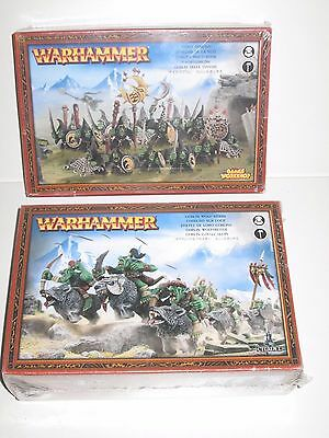 Warhammer Fantasy Orcs and Goblins Night Goblins x20 and Wolf Riders x10 sealed