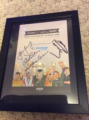 Legends Of World Rugby Programme Signed By Four Legends