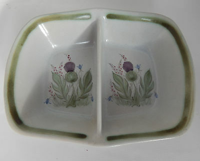 Buchan stoneware Double  dish Divided Baker thistleware