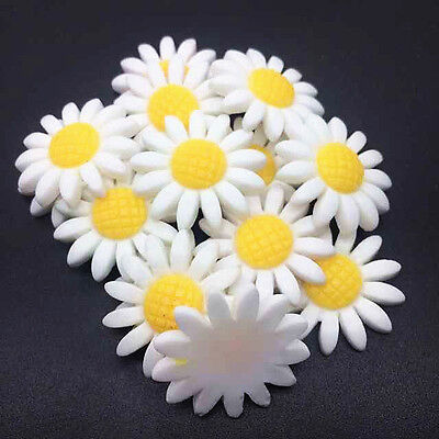 10pcs white 24mm Daisy Resin Flatback ScrapbookIng for phone/craft
