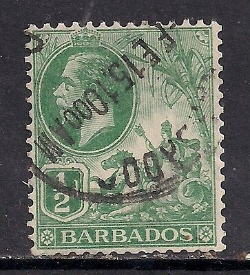 BARBADOS 1912 - 16  1/2d GREEN used stamp SG 171 ( C312 )