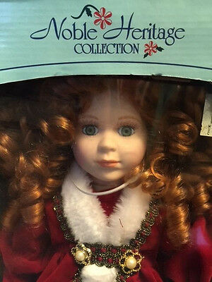 """1998 Noble Heritage Collection Special Edition Christmas Doll Red Santa Suit 16"""""""