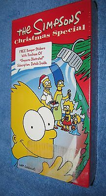 Rare Unopened! The Simpsons Christmas Special (Vhs, 1991) Htf Factory Sealed!!