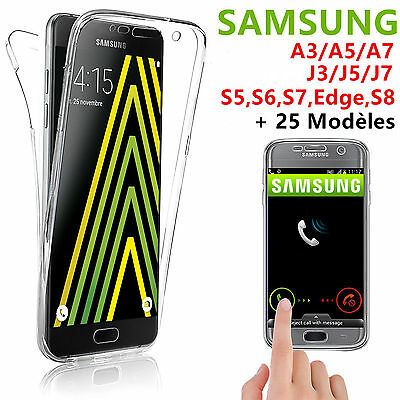 COQUE 360° FULL POUR SAMSUNG A3/A5 2017 A8 J3/J5/J7 S5/S6/S7/Edge S8 S9 Note 8 9